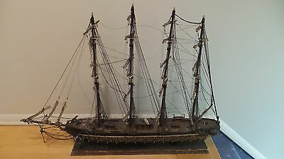 Antique Sailing Ship Model Fragata Espanola 1780 Wooden Large