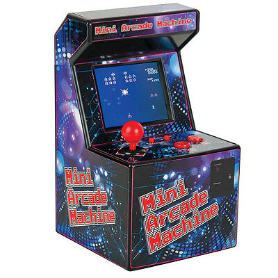DESKTOP MINI ARCADE MACHINE RETRO 80s CONSOLE GAMES GIFT WITH 240 GAMES FUN NEW