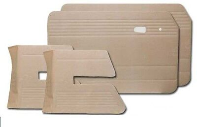 1966-1972 VW Fastback Front and Rear Door Panels w/Pockets, (Choose Color)