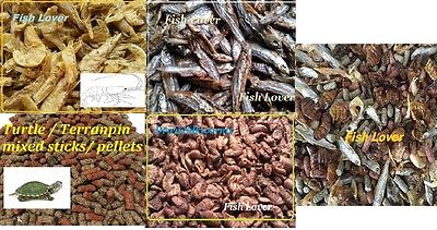 Complete Turtle Terrapin Food Treat,silkworm,shrimp,dried Fish,pellets,mix Feed