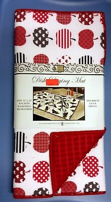 """Kitchen Microfiber Quick Drying Mat, red by BH GREEN /& RED APPLES 16/""""x 24/"""""""