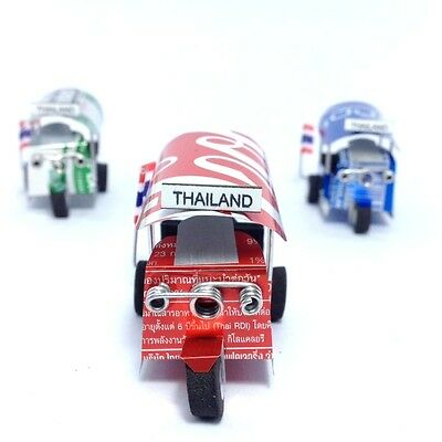 3 Tuk Tuk Cars Taxi Thailand Small Model Toy Collection Souvenirs Gift Used Can