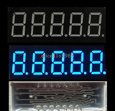0.36 inch 5 Digital Led Display 7 Seg Segment Common Cathode Blue Module
