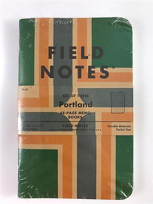 NEW Field Notes 3 Pack Portland 48 Page Memo Book Graph Paper Pocket Size FN-32