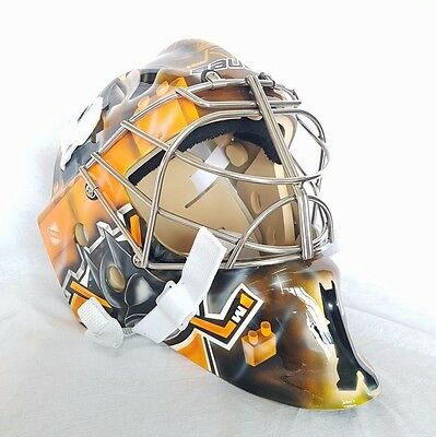 Ducks Anaheim Lego Batman Goalie Mask Hockey Helmet Nhl Full Size Adult