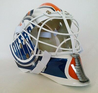 Oilers Edmonton Furh Ranford Goalie Mask Hockey Helmet Nhl Replica Full Adult