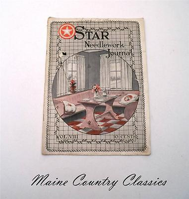 Antique Sewing Magazine 1923 Star Needlework Journal Crochet Embroidery Patterns