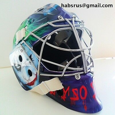 Purple Batman Joker Custom Goalie Mask Hockey Helmet Nhl Replica Full Size Adult