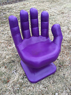 """GIANT Purple Granite HAND SHAPED CHAIR 32"""" adult 70s Retro iCarly NEW"""