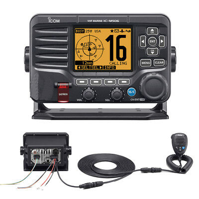 Icom M506 VHF Fixed Mount w/Rear Mic & NMEA 0183/2000® Black M506 31
