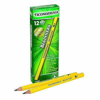 Dixon Ticonderoga Beginners Primary Size #2 Pencils without Erasers, Box of 12,