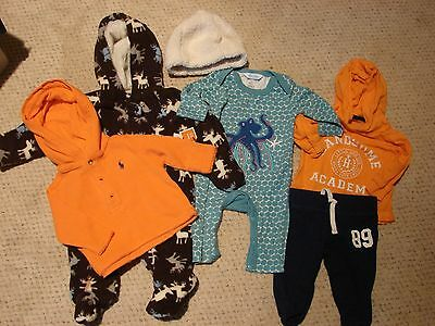 Lot of Baby Boy's Clothing Size 0-3 Months