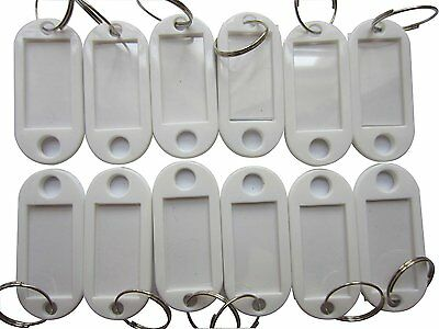 LeBeila Plastic Key Tags Id Labels with Rings Solid One Color in Bulk 100 PCS