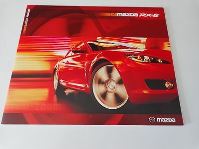 A 20004 Mazda RX-8 Brochure  First RX-8 Brochure Printed