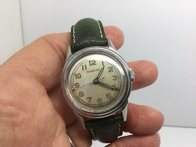 Tiffany & Co. Vintage Automatic Watch Model # 6163 W/leather Band