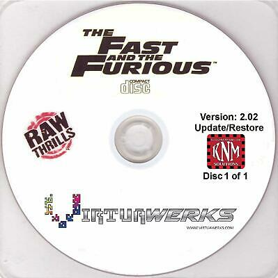 Fast And Furious Restore Disc Ver. 2.02 Arcade Raw Thrills Coin Op Game