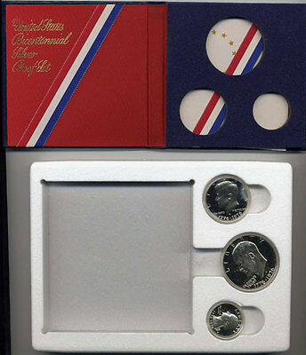 Beautiful United States 1976-S Silver Three Piece Proof Set in the Original Box