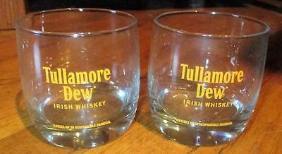 2- TULLAMORE DEW Irish Whiskey-Rocks Glass-Whisky-Mixed Drink Glasses-NEW