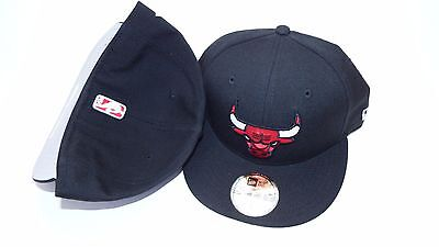 Nwt New Era Hat Cap Fitted Size 7 Chicago Bulls Black Red White