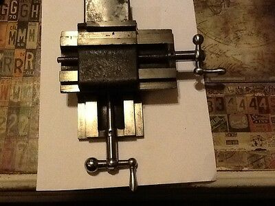 Vintage X Y Compound Slide Table Lathe Mill Milling Dental XY Fixture