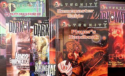 Alternity TSR 7 Books - Player's Handbooks (2), GM Guide, Arms & Equipment, More