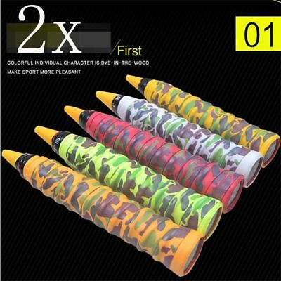 Stretchy Anti Slip Racket Bat Roll Tennis Badminton Handle Grip Tape Color Camo