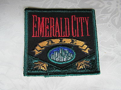 Rare Emerald City Ale Beer Sew On Jacket Trucker Patch Crest A