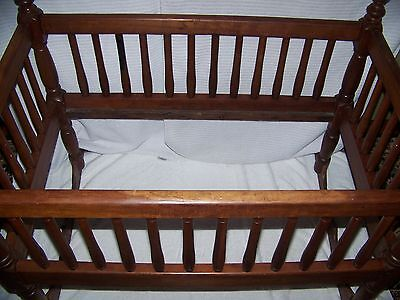 Baby Cradle-Beautiful TN Large exc.cond 19th Century Cherry, peg square nails