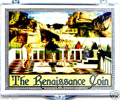 The Italian Renaissance  Silver Coin In New Clear Box with Story