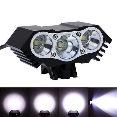 12000Lm 3 x CREE T6 LED 4 Modes Bicycle Lamp Bike Light Cycling Headlight Torch