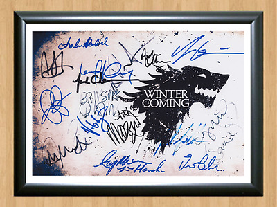 Game of Thrones Cast 16 Signed Autographed A4 Print Photo Poster Memorabilia dvd