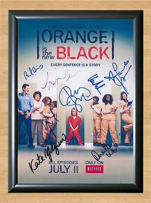 Orange Is The New Black x8 Signed Autographed A4 Print Photo Poster Memorabilia