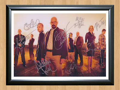 Breaking Bad S5 Cast x8 Signed Autographed A4 Print Photo Poster Memorabilia dvd