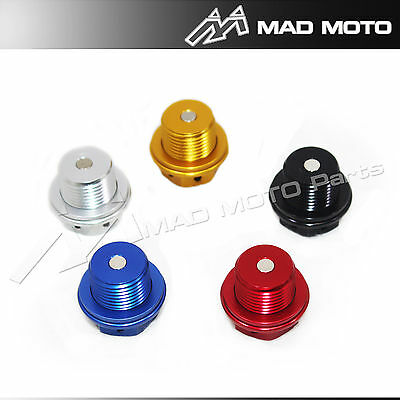 Magnetic Oil Drain Sump Plug M14 x 1.5x16 TRIUMPH STREET TRIPLE TIGER 800 Red