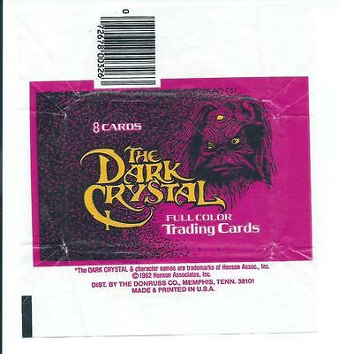 The Dark Crystal Trading Card Wax Wrapper Vintage Donruss 1982