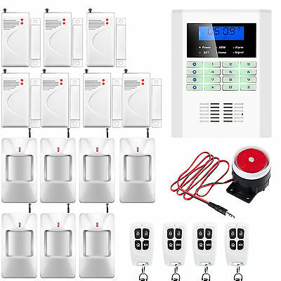 V90 GSM SMS PSTN Dual Nets Wireless House Home Alarm Security System Auto Dialer