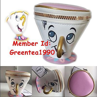 Beauty And The Beast Souvenir Disney Chip Cup Coin Purse Primark Fairytale Bag