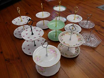 Vintage Cup Cake Plate/jewellery Sweet Stands High Tea Fine Bone China Crystal