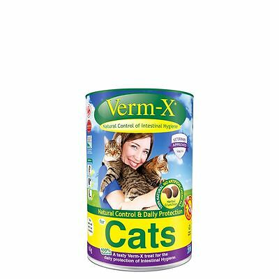 Verm-X Herbal Crunchies For Cats Pet Animal Natural Daily Intestine Protection
