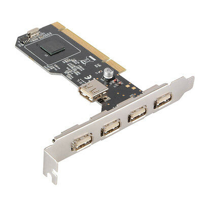 5-Port USB 2.0 PCI Expansion Card Adapter Controller NEC for Windows Mac AC694