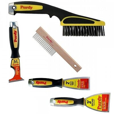 """Purdy preparation Kit - Multi Tool 2"""" & 3"""" Paint Scrapers Wire Brush and Comb"""