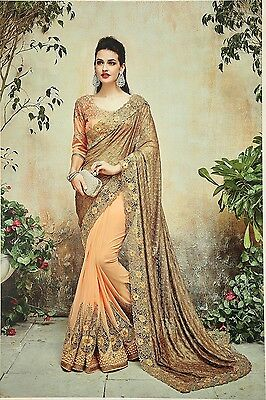 Latest Indian Wedding Sari Designer Embroidered Party wear Saree with Blouse