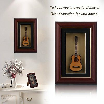 Mini Musical Ornaments Electric Guitar Model Instrument with Photo Frame GT