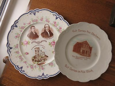 PRIMITIVE METHODIST Hugh Bourne William Clowes - Centenary Plate Tunstall Chapel