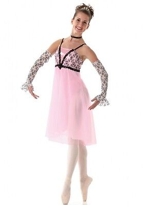 Enchanted Dance Costume Lyrical Ballet Dress and Sleeves Clearance Adult X-Large