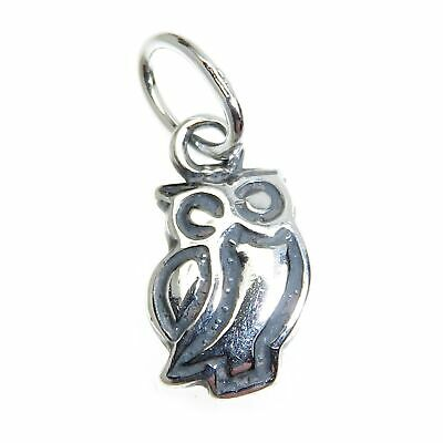 Owl TINY sterling silver charm .925 x 1 Birds and Owls charms CI300264