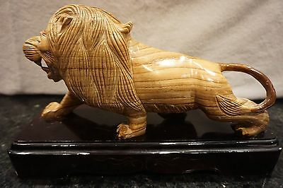 Chinese Lion Stone Carving Excellent Grained