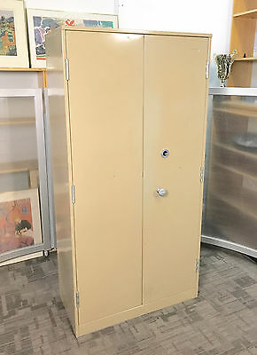 Used Large High Security Double Door Safe / Cupboard [Chubb Mersey Keyed Lock]