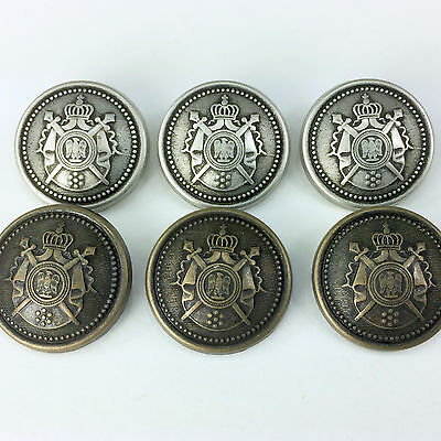 3 x Military METAL Shield (Style 2) Bronze or Silver 4 sizes