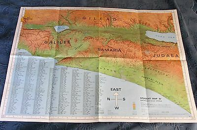 Pictorial Archive Historical Map of the Bible Lands, Ezra-Nehemiah to Justinian,